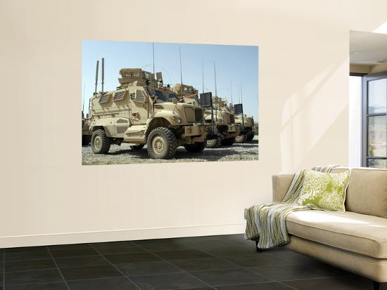 mine-resistant-ambush-protected-vehicles-sit-in-the-parking-area-at-joint-base-balad-iraq