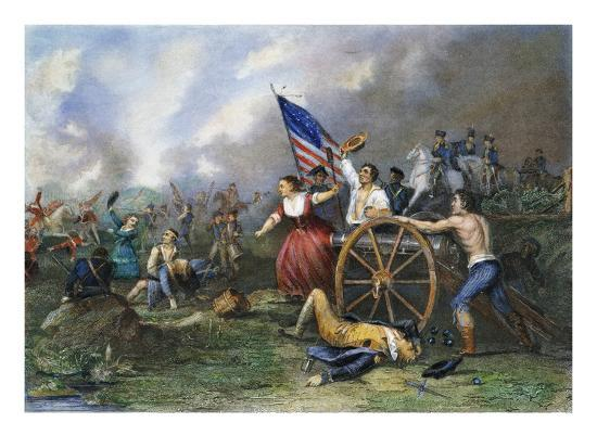 molly pitcher monmouth giclee print at art com