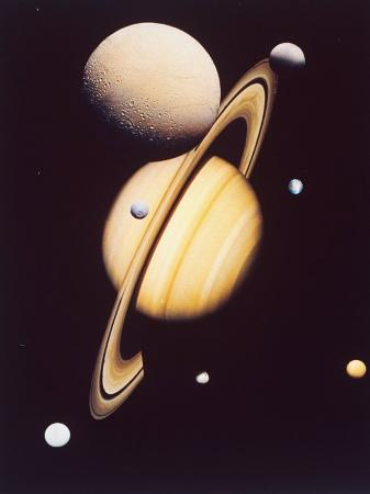 montage-of-saturn-and-satellites-taken-by-voyager-1-and-2-titan-iapetus-and-tethys-mimas-and-rhea