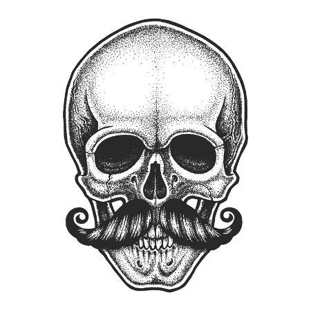 mr-bachinsky-dotwork-styled-skull-with-moustache-hand-drawn-illustration-t-shirt-design