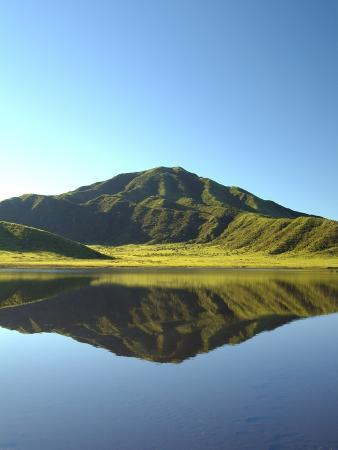 mt-aso-reflected-in-a-calm-lake-kumamoto-prefecture-japan