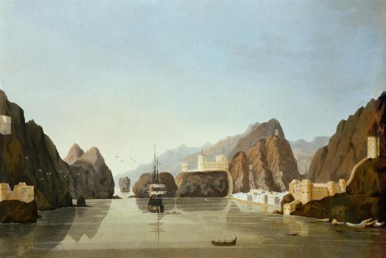 muscat-from-the-harbour-with-a-british-frigate-at-anchor-from-sixteen-views-of-places-in-the