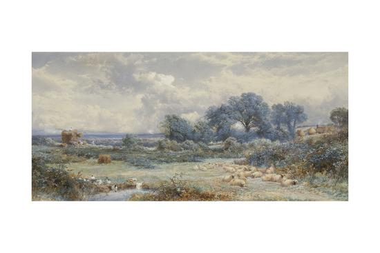 myles-birket-foster-a-view-on-holmwood-common-surrey