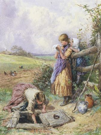 myles-birket-foster-reading-by-the-well