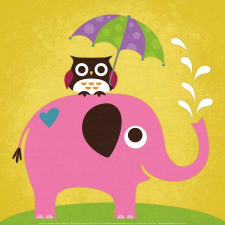 nancy-lee-elephant-and-owl-with-umbrella