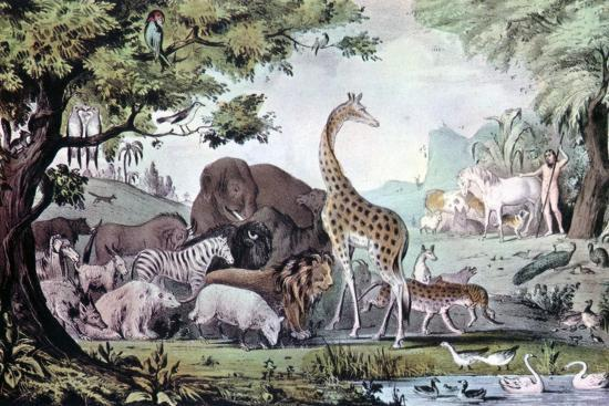 nathaniel-currier-adam-naming-the-creatures-1847