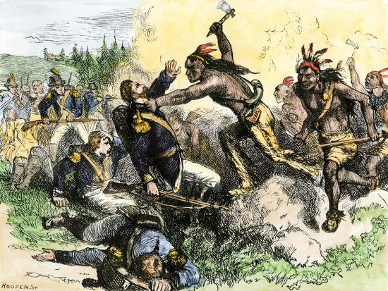 Native Americans Attack The American Garrison At Fort