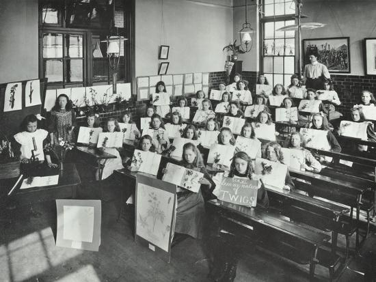 nature-lesson-albion-street-girls-school-rotherhithe-london-1908