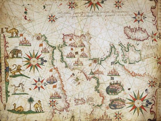 nautical-chart-of-the-balearic-islands-the-iberian-peninsula-and-the-north-west-coast-of-africa