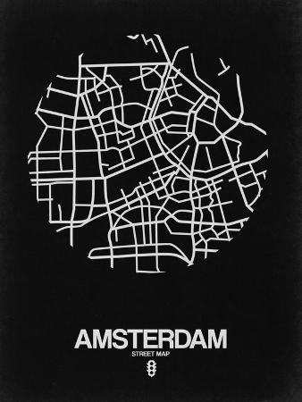 naxart-amsterdam-street-map-black