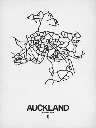 naxart-auckland-street-map-white