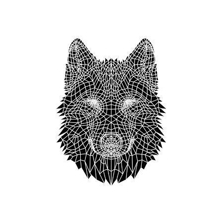 naxart-black-woolf-head-mesh