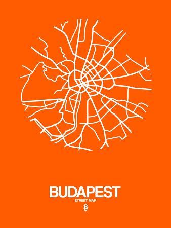 naxart-budapest-street-map-orange