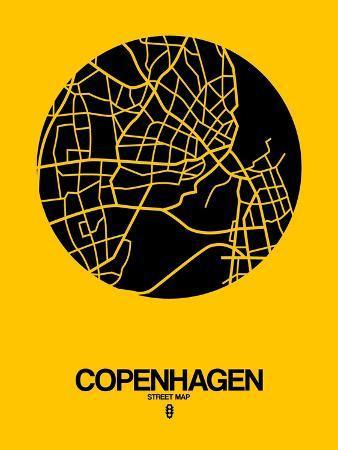 naxart-copenhagen-street-map-yellow