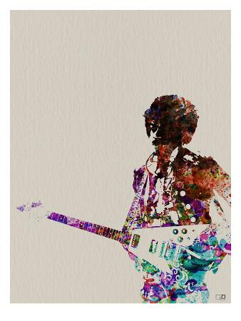naxart-hendrix-with-guitar-watercolor
