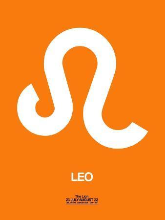 naxart-leo-zodiac-sign-white-on-orange
