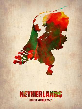 naxart-netherlands-watercolor-map