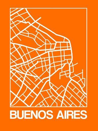 naxart-orange-map-of-buenos-aires