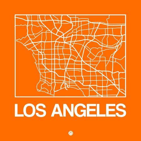 naxart-orange-map-of-los-angeles