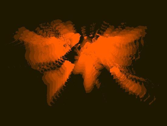 naxart-orange-radiant-world-map
