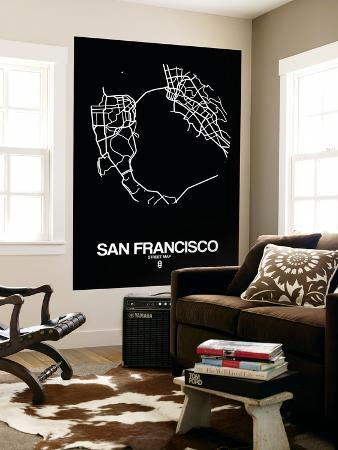 naxart-san-francisco-street-map-black