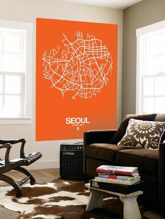 naxart-seoul-street-map-orange