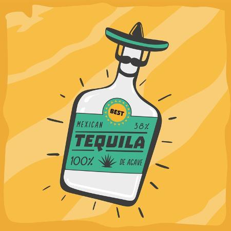 ne2pi-vintage-poster-with-a-tequila-bottle