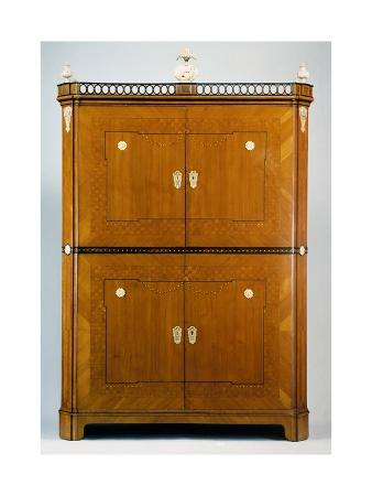neoclassical-style-cherry-wood-collector-s-cabinet-with-veneer-finish-piedmont-or-france