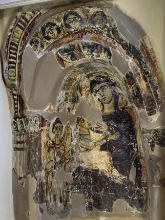 niche-with-virgin-suckling-child-jesus-tempera-from-saqqara-monastery-of-s-geremia-egypt