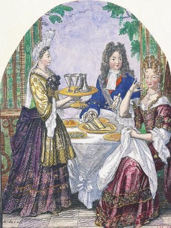 nicolas-bonnart-marquise-de-lude-at-table