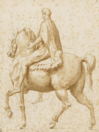 nicolas-poussin-statue-equestre-de-marc-aurele-vue-de-profil-et-legerement-par-l-arriere