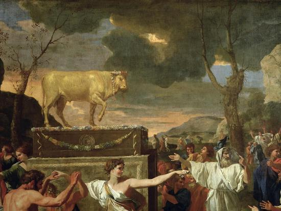 nicolas-poussin-the-adoration-of-the-golden-calf-before-1634-detail