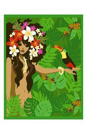 noriko-sakura-girl-in-tropical-paradise-with-flowers