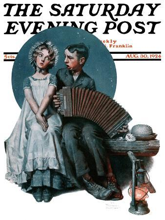 norman-rockwell-accordionist-or-serenade-saturday-evening-post-cover-august-30-1924