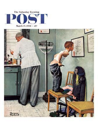 norman-rockwell-before-the-shot-or-at-the-doctor-s-saturday-evening-post-cover-march-15-1958