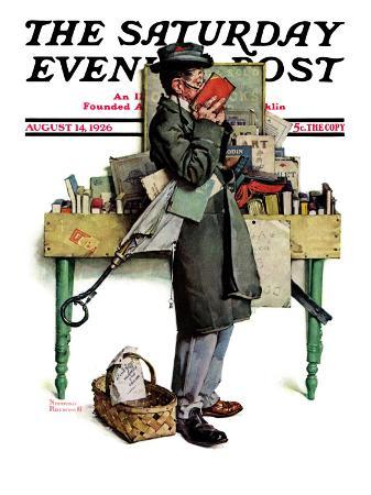norman-rockwell-bookworm-saturday-evening-post-cover-august-14-1926