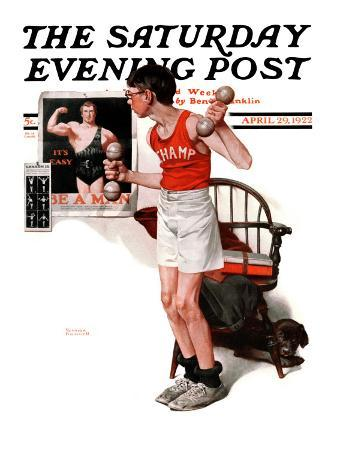 norman-rockwell-champ-or-be-a-man-saturday-evening-post-cover-april-29-1922