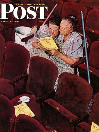 norman-rockwell-charwomen-saturday-evening-post-cover-april-6-1946