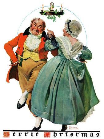 norman-rockwell-christmas-dance-or-merrie-christmas-december-8-1928
