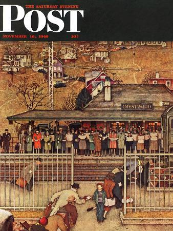 norman-rockwell-commuters-waiting-at-crestwood-train-station-saturday-evening-post-cover-november-16-1946