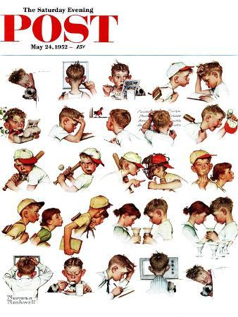 norman-rockwell-day-in-the-life-of-a-boy-saturday-evening-post-cover-may-24-1952