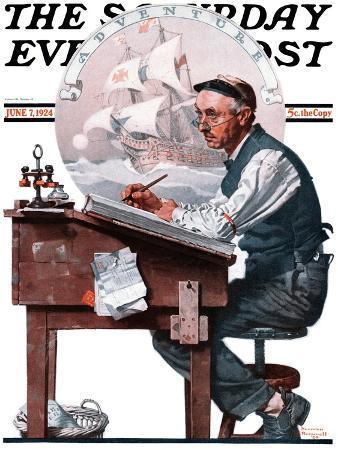 norman-rockwell-escape-to-adventure-saturday-evening-post-cover-june-7-1924