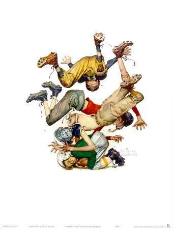 norman-rockwell-first-down
