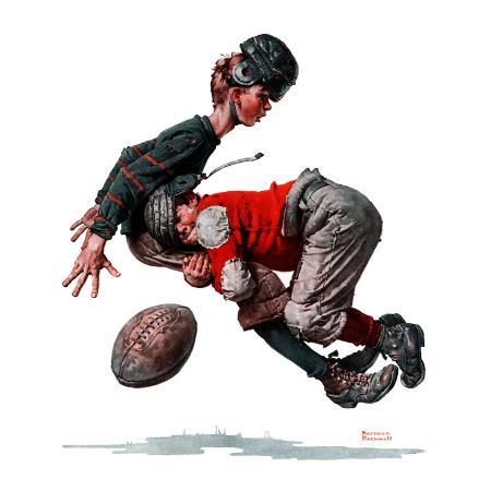 norman-rockwell-fumble-or-tackled-november-21-1925