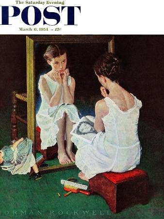 norman-rockwell-girl-at-the-mirror-saturday-evening-post-cover-march-6-1954