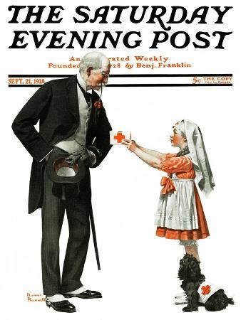 norman-rockwell-giving-to-red-cross-saturday-evening-post-cover-september-21-1918