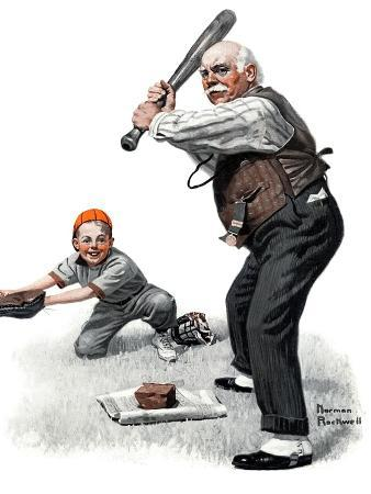 norman-rockwell-gramps-at-the-plate-august-5-1916