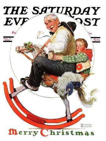 norman-rockwell-gramps-on-rocking-horse-saturday-evening-post-cover-december-16-1933