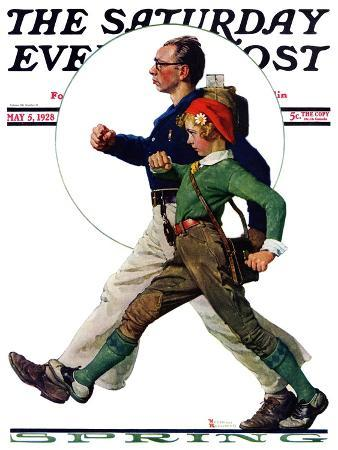 norman-rockwell-hikers-saturday-evening-post-cover-may-5-1928