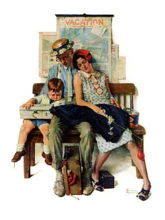 norman-rockwell-home-from-vacation-september-13-1930
